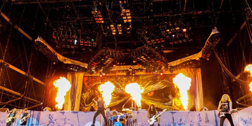 Iron Maiden på spelning