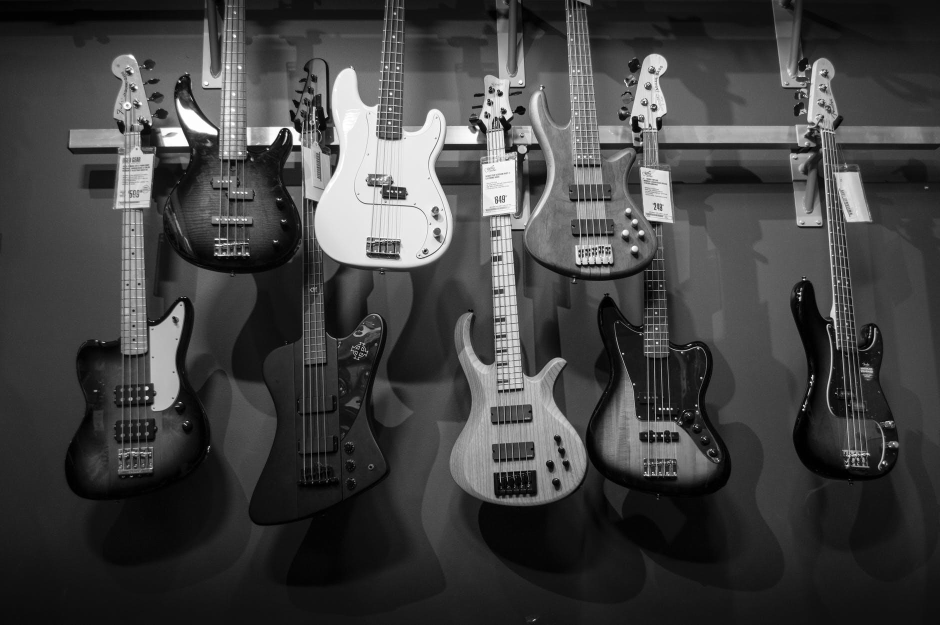 Flera olika gitarrer